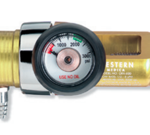 Western Medical OPA-850 Compact Click-Style Oxygen Regulator with 0.5-25 LPM Capacity