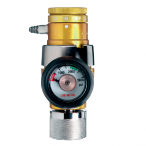 Western Medical OPA-510 Compact Click-Style Oxygen Regulator with 1/64-2 LPM Capacity
