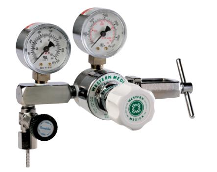 Western Medical M1-870-PGB Adjustable 0-50 PSI Oxygen Pressure Regulator