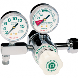 Western Medical Oxygen Flow Control Regulator, M2-540-15FG, Dual Stage Preset, 2-15 LPM
