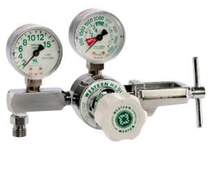 Western Medical Oxygen Flow Control Regulator, M1-870-5FG, Single Stage Preset, 0.5-5 LPM