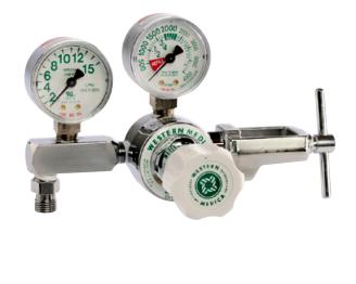 Western Medical Oxygen Flow Control Regulator, M1-870-15FG, Single Stage Preset, 2-15 LPM