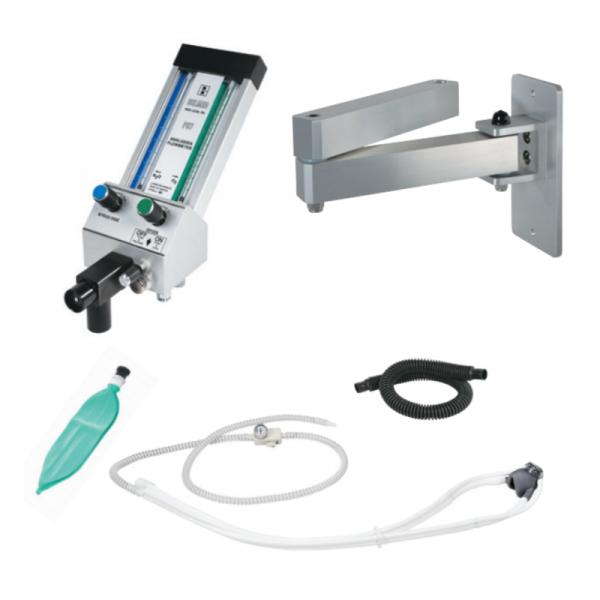 """Belmed Dental Flowmeter PC-7 With 8"""" Double Swivel Arm + Scavenger"""