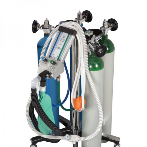 Belmed Dental Portable Flowmeter PC-7 With 4 Cylinder Capacity