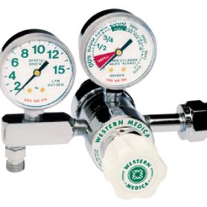 Western Medical Oxygen Flow Control Regulator, M1-540-5FG, Single Stage Preset, 0.5-5 LPM