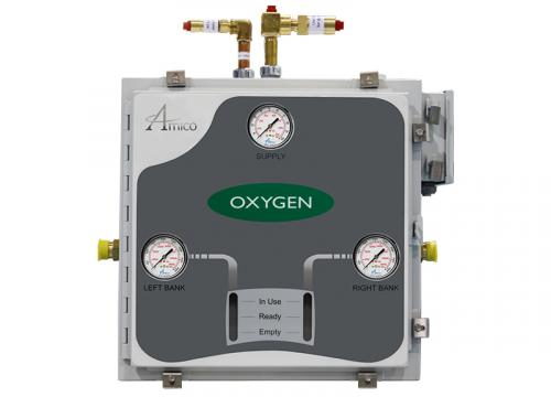 Amico Oxygen Automatic Dome Loaded Analog NEMA-4 Manifold M3A4-DL-HH-U-OXY