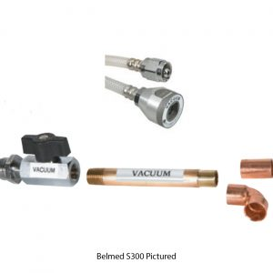 Belmed S300 Vacuum Shut-Off Valve Assembly with DISS x Puritan Quick Connect Coupler Hose