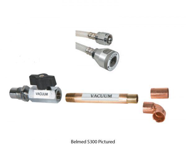 Belmed S800 Vacuum Shut-Off Valve Assembly with DISS X Scavenger Adapter Kit Hose