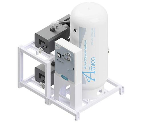 Amico Medical Contact-less Claw Vacuum Pump, Duplex CCD Modular Stack Mount