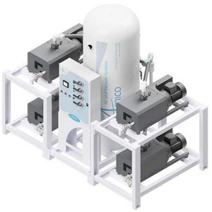 Amico Medical Contact-less Claw Vacuum Pump, Quadruplex CCD Modular Stack Mount