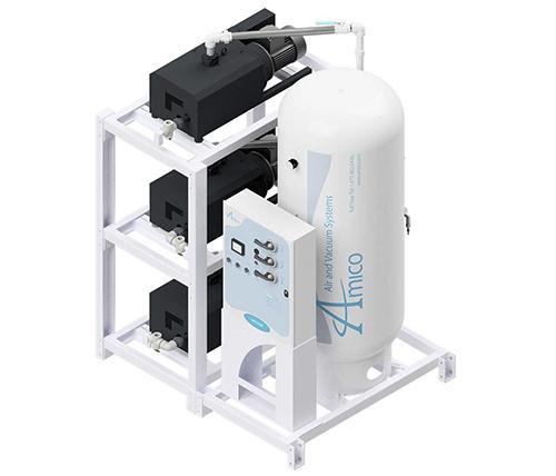 Amico Medical Contact-less Claw Vacuum Pump, Triplex CCD Modular Stack Mount