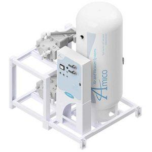 Amico Medical Dry Rotary Vane Vacuum Pump, Duplex RVD Modular Stack Mount