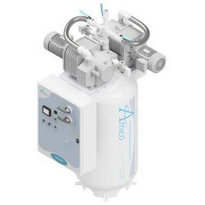 Amico Medical Dry Rotary Vane Vacuum Pump, Duplex RVD Vertical Tank Mount