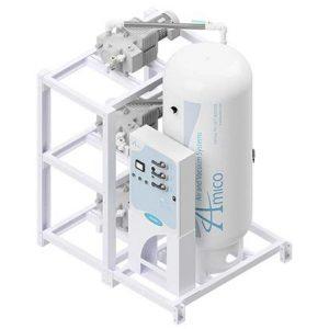 Amico Medical Dry Rotary Vane Vacuum Pump, Triplex RVD Modular Stack Mount