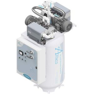 Amico Medical Lubricated Rotary Vane Vacuum Pump, Duplex RVL Vertical Tank Mount