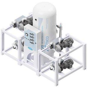 Amico Medical Lubricated Rotary Vane Vacuum Pump, Quadruplex RVL Modular Stack Mount