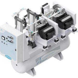 Amico Medical Scroll Compressor, Duplex SCD Horizontal Tank Mount