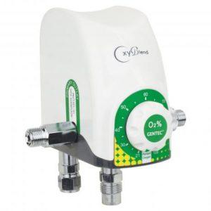 Gentec OxyBlend Air-Oxygen Blender, 3-30 LPM, GMX030U-AIR/O2