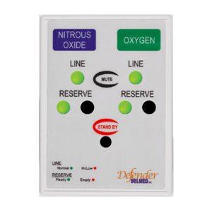 Belmed Dental Manifold A121, Oxygen & Nitrous Desk Alarm