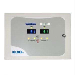 Belmed Dental Manifold A100, Oxygen & Nitrous Manifold with Wall Alarm & Pre-Install Kit