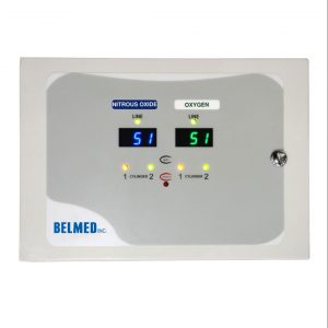 Belmed Dental Manifold A101, Oxygen & Nitrous Manifold with Desk Alarm & Pre-Install Kit