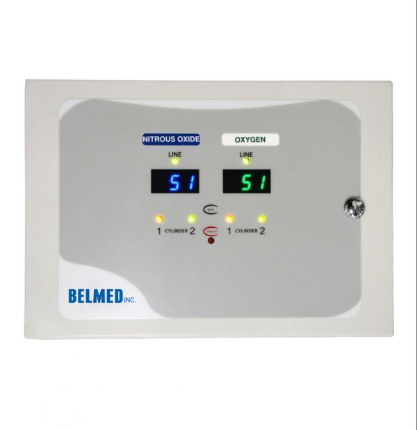 Belmed Dental Manifold A120, Oxygen & Nitrous Manifold with Wall Alarm