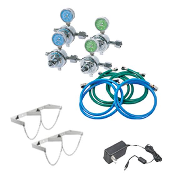 Belmed Dental Manifold A121, Oxygen & Nitrous Manifold Kit for Desk Alarm